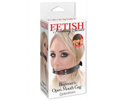 Кляп-кольцо FF Series Beginner's Open Mouth Gag Black