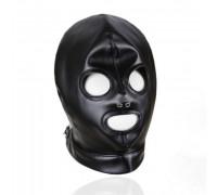 Маска-шлем со шнуровкой черная
