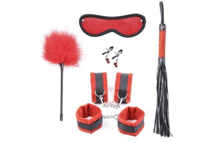 Красный набор из 6 игрушек