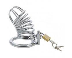 Мужской стальной пояс верности внутренний диаметр запорного кольца 4,5 см
