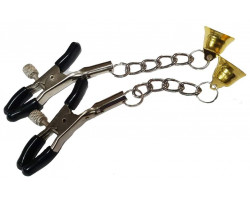 Зажимы для сосков с цепью и колокольчиком