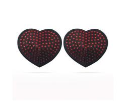 Пэстисы для груди Reusable Red Diamond Heart Nipple Pasties
