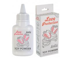 Пудра для игрушек Love Protection с ароматом клубники со сливками 15 гр