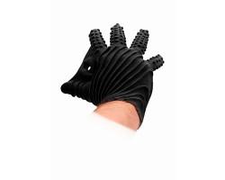 Черная перчатка для мастурбации