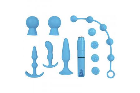 Набор игрушек для анальной стимуляции The Insider Set Deluxe Couple Kit голубой