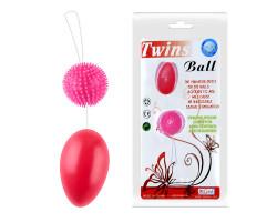 Розовые анально-вагинальные шарики со смещенным центром