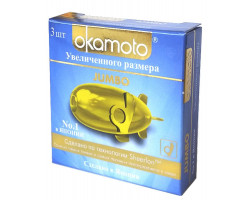 Черные увеличенные презервативы Okamoto Jumbo No3