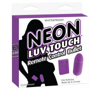 Виброяйцо на дистанционном управлении Neon Luv Touch Remote Control Bullet Purple