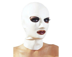 Белая маска из латекса женская