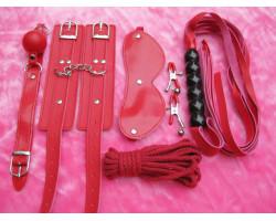Красный БДСМ-набор из шести предметов