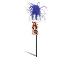 Ласкающая палочка с фиолетовыми перьями Feather Tickler