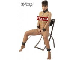 Zado Комплект наручники ошейник кандалы из кожи