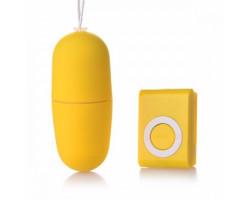 Вибро-яйцо беспроводное желтое