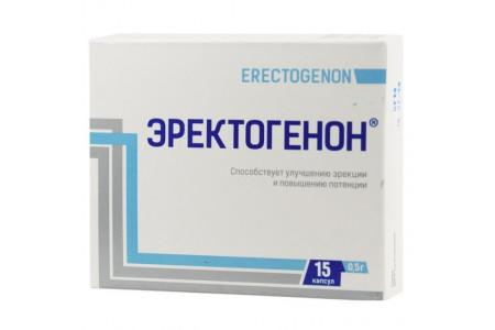 Эректогенон для улучшения эрекции и повышения потенции 15 капсул