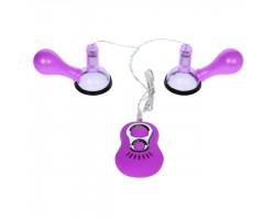 Вибромассажер для груди с 7 функциями вибрации фиолетовый