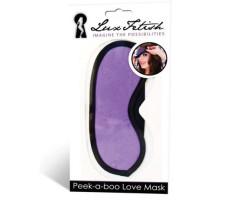 Маска фиолетовая на глаза Peek-A-Boo Love Mask