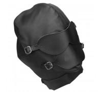 Кожаный бондажный шлем с кляпом
