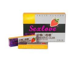Возбуждающая жевательная резинка для женщин SexLove 5 шт.