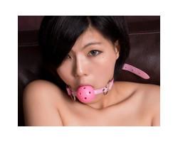 Розовый кляп-шар БДСМ