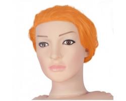 Кукла для секса с вибрацией рыжая 3D Face Love Doll