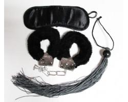 Бондажный набор 3 предмета черного цвета