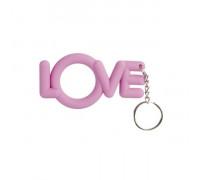 Эрекционное розовое кольцо-брелок Love