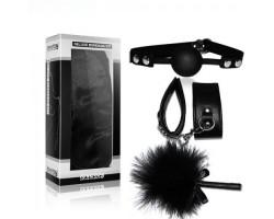 Набор для ролевых игр Deluxe Bondage Kit (наручники тиклер кляп-шар)