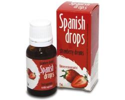 Возбуждающие капли для двоих Spanish Drops Strawberry dreams 15 мл