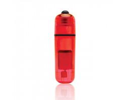 Компактный красный стимулятор вибро-пулька