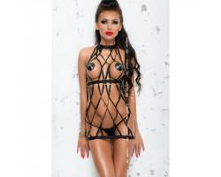 Платье и стринги черные Colette L/XL