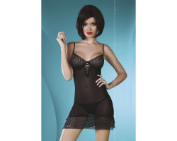 Черная сорочка и трусики Florizel L/XL
