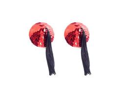 Красные пэстисы с длинными кисточками