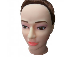 Кукла шатенка для секса с вибрацией 3D Face Love Doll