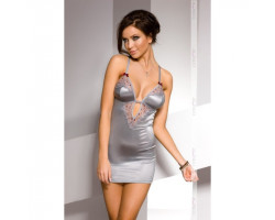 Серебристое платье Cheli L/XL