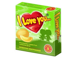 Презервативы с ароматом дыни I Love You + наклейка