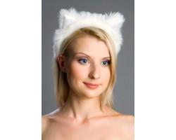 Ободок Кошачьи ушки белые