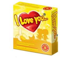 Презервативы с ароматом банана I Love You + наклейка