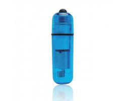 Компактный синий стимулятор вибро-пулька