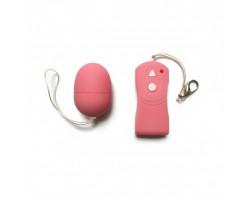 Виброяйцо с беспроводным пультом управления и 10 функциями вибрации розовое